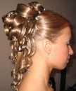 curly long hair prom hairstyle