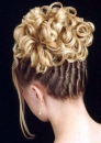 curly hair prom hairstyle